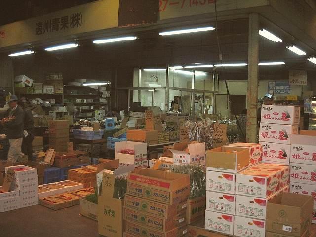 浜松中央卸売市場内の青果仲卸【遠州青果】